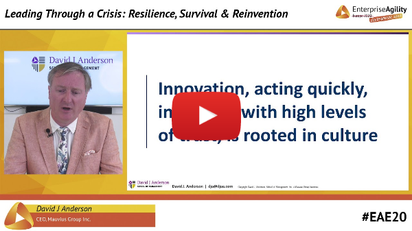 Leading Through A Crisis: Resilience, Survival & Reinvention -- David J Anderson