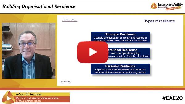 Building Organisational Resilience - Julian Birkinshaw